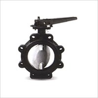 RUBBER LINED BUTTERFLY VALVE WITH LUGGED BODY