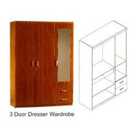 3 Door Dressure Wardrobes