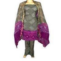 Glace Cotton Tie-dye Bandhe Hamd Work Salwar Kameez