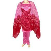 Fashionable Glace Cotton Tie Dye Ethnic Salwar Suit