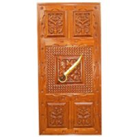 Carved Entrance Door