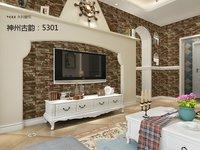 Style Popular Wood Brick Stone Design PVC Home Interior Decoration Wallpaper