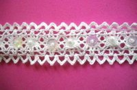 Beaded Lace With Sequins And Pearls