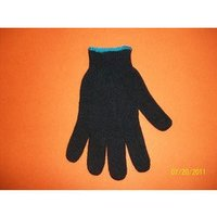 Coloured Cotton Knitted Safety Gloves