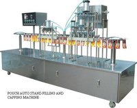 Pouch Auto Stand Filling And Capping Machine