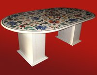 Round Shape Marble Table Tops