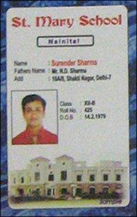 Pvc School Id Cards
