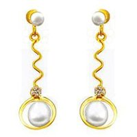 White Pearl Hanging Earring