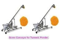 Screw Conveyor For Turmeric Powder