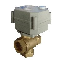 3 Way Electric Brass Valve for Solar Energy