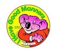 Welcome Manners Stickers